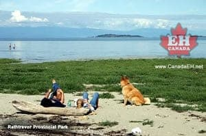 Rathtrevor Beach in Parksville, BC on Vancouver Island