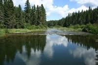 Hiking along the beautiful Waskesui River