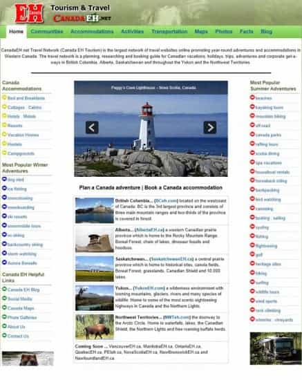 Canada Travel Guide Homepage