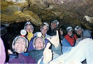Caving at Horne Lake Caves, Vancouver Island, BC