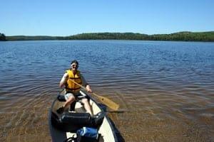 Canoeing Algonquin Provincial Park in Ontario, Canada