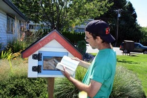 Beach Library and EH Team Brother Colin in Qualicum Beach