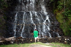 Waterfall at the Ione Rest Stop