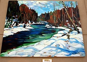 """""""Stream in the Wood """" by A.Y. Jackson (Group of Seven), Huntsville, Ontario"""