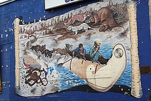 """""""Spirit of the Past """" painted by Kelley Morrell, Kenora, Ontario, Canada"""
