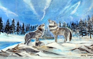 """""""Howling Wolves"""" by Josie Horvath, Gimli, Manitoba, Canada"""