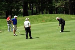 Golfing in Fairmont Hot Springs, BC