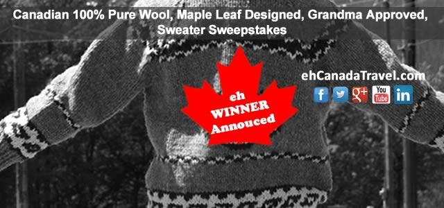 New Brunswick Winner of Sweater Sweepstakes