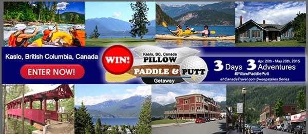"""WIN 3 Adventures in 3 Days – 3 Nights Kaslo, B.C., Canada """"The Pillow, Paddle & Putt Getaway (#pillowpaddleputt) is about exploring lakes and rivers, greens and tees, cabins and […]"""