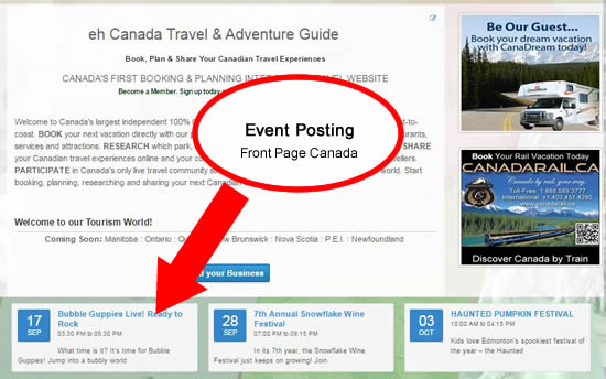 Front Page Event Marketing