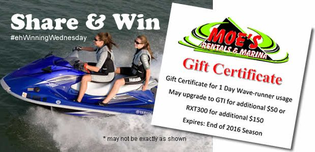 SHARE & WIN a Wave Runner Rental for a Day on Shuswap Lake in Sicamous, BC with Moe's Rentals Prize Description: Winner will enjoy a full day rental of a Wave Runner personal watercraft on Shuswap Lake from […]