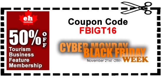 Cyber Monday-Black Friday Tourism Advertising Sale 2016