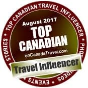 August 2017 Top 3 Canadian Travel Influencers