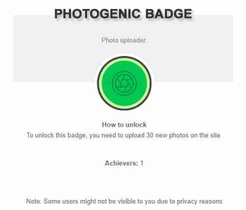 Photogenic Badge