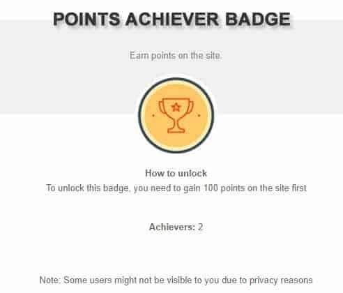 Points Achiever Badge