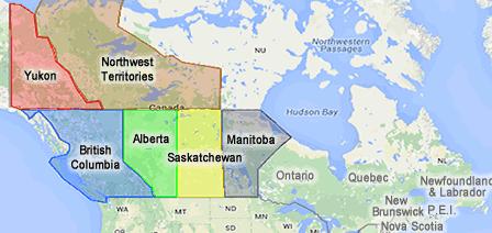 Canada Map - Regions