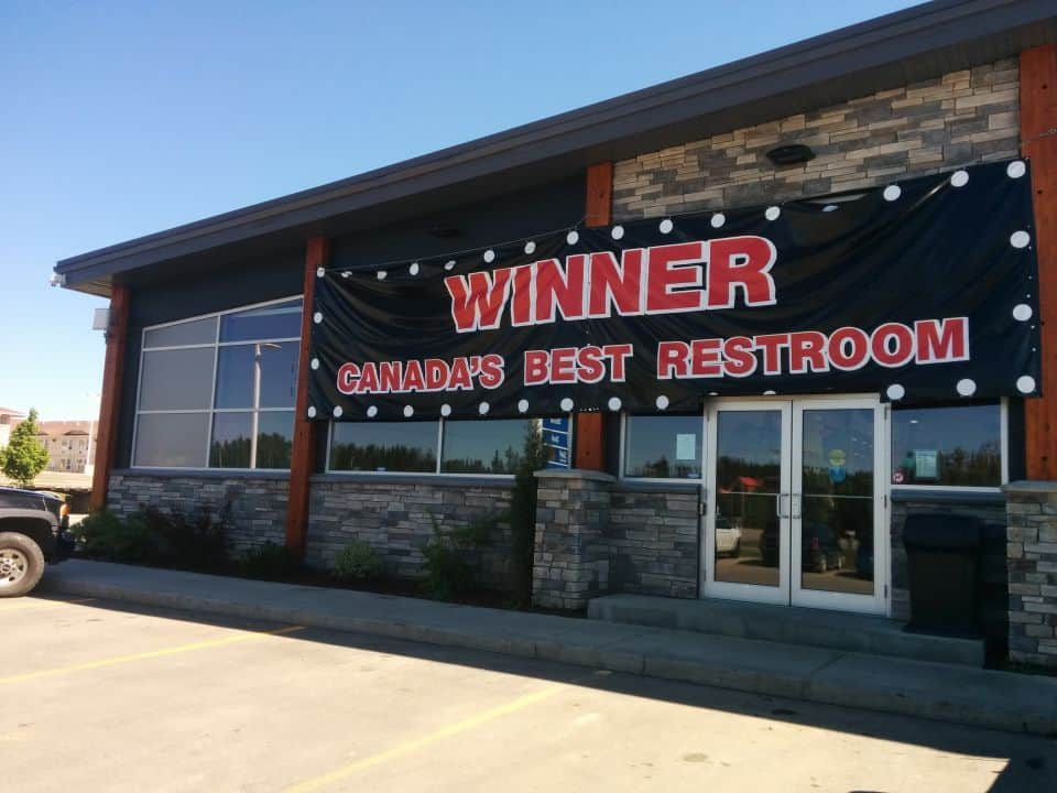 Canada's 2016 Best Restroom Winner goes to the Kanata Travel Centre in Whitecourt, Alberta. <br /><br />Drove by 2013 winner- Shell in Valleyview, Alberta