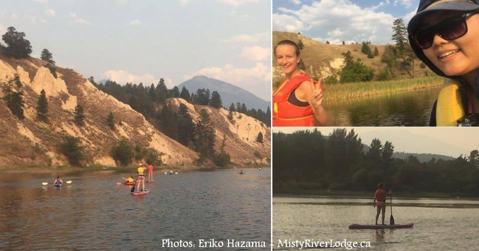 First time paddle boarders Eriko and Juliane exploring the #ColumbiaRiverWetlands .