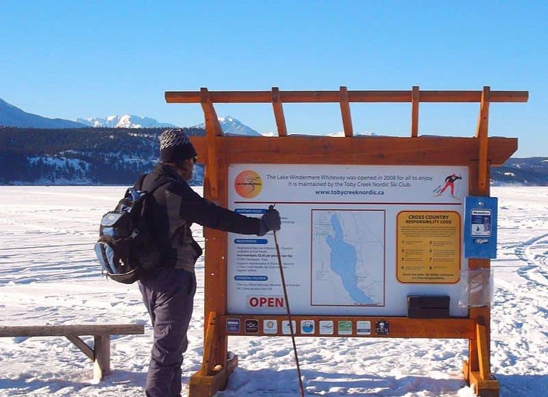 Lake Windermere Whiteway, the longest skateable trail in the world - 29.98 km of Nordic Ski & Skating