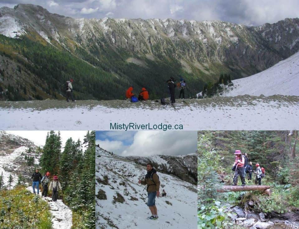 Hiking the Kindersley-Sinclair trail in Kootenay National Park mid-September