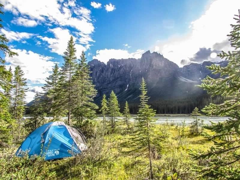 Campsite at Big Bend Campsite in Jasper National Park.