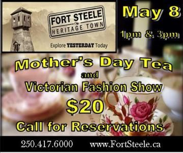 Fort Steele Heritage Town Annual Mother's Day Tea and Victorian Fashion Show