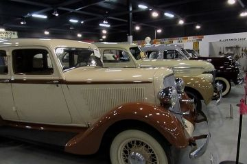 Visiting the Little Classic Car Museum near Moosejaw, Saskatchewan