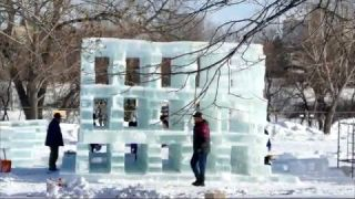 The Great Ice Show Sculptures rise at The Forks - 2015