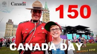 Canada Day 150 Mega party in Downtown Ottawa Canada's 150th Anniversary Celebration Parliament Hill