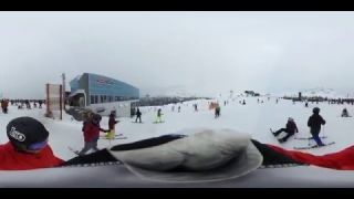 This is me Rich in Whistler BC Canada Skiing in 360 video snowboarding