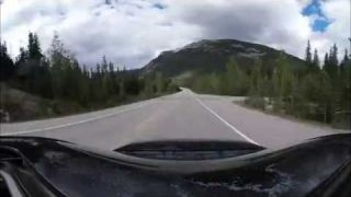 2hrs in 2 minutes Icefield Parkway Cruise Hwy 93 4k 360 video for vr