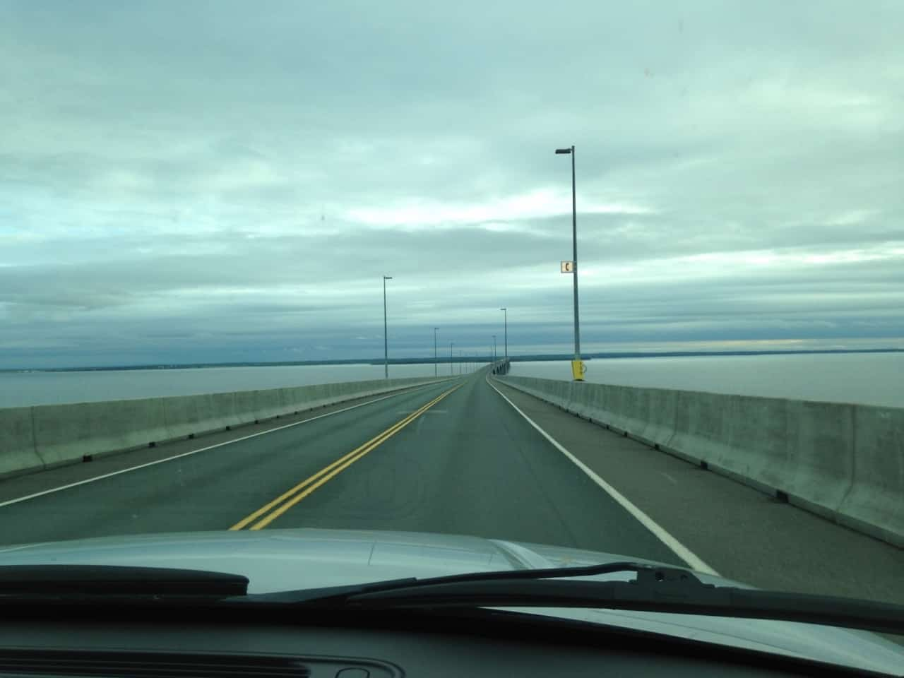 052b86ea6971e4b706bef19b.jpg - Confederation Bridge - Across Canada in search of #BIGselfies trip 2014<br />The worlds longest bridge built across salt water that freezes - strangest description to get yourself a record but you gotta do what you gotta do, worthy of a # BIGselfie I thought