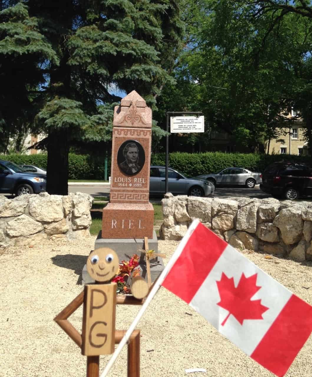 3228381575a0b867afcf2ff3.jpg - St. Boniface, Winnipeg, MB - Across Canada in search of #BIGselfies trip 2014<br />Another one of those important and interesting people buried here in Winnipeg
