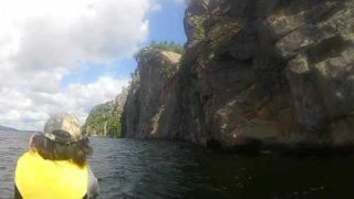 Rock Climbers at Bon Echo Cliff