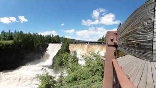 This Is Me at Kakabeka Falls captured in 4k 360 video for viewing in Virtual Reality Devices
