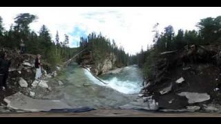 This Is Me Capture of Johnston Canyon in 360 video for VR viewing Banff alberta Canada virtual reali