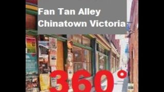 Walk down FanTan Alley Chinatown 4k 360 video for viewing in VR Victoria BC