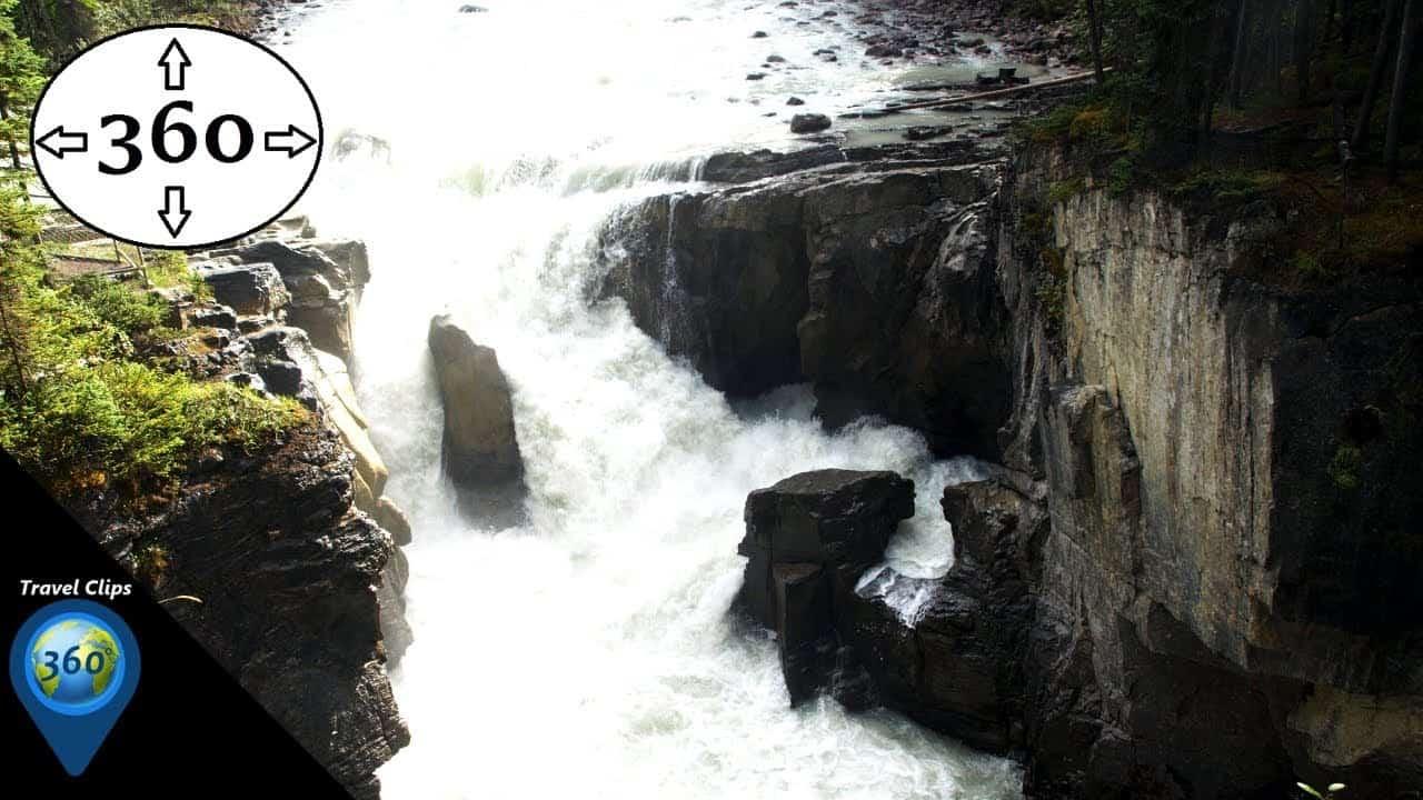 Turbulent Water - Sunwapta Falls - 360° VR 4K