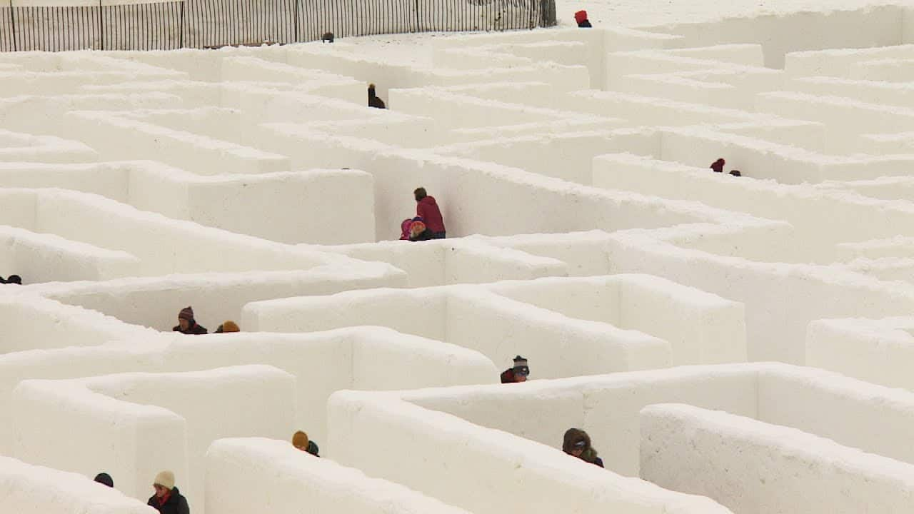 Snow maze in Manitoba vying to be biggest in the world